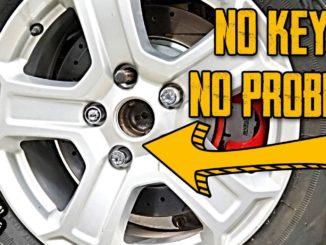 Wheel Lug Nut Lock Without Key