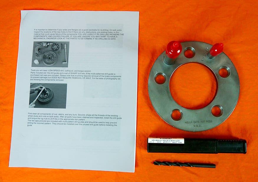 Wheel Bolt Pattern Re-Drill Guide Jig Kit