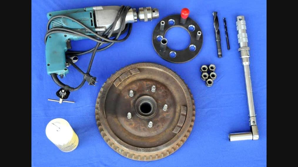 Wheel Bolt Pattern Drill Guide Jig