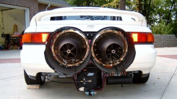 1991 Toyota MR2 Twin-Engine Jet Car