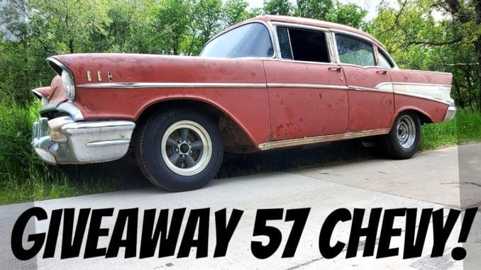 DD Speed Shop is Giving Away a 1957 Chevy Bel Air for FREE