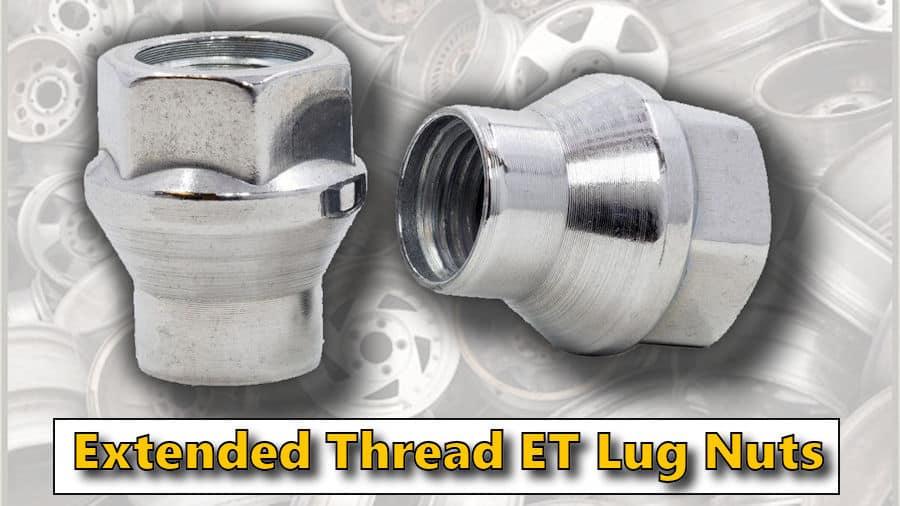 Extended Thread Spline Tuner Lug Nuts for Aftermarket Wheels Lug Nut Wheel Accessories Parts Set of 24 M14x1.5 Closed End ET Black