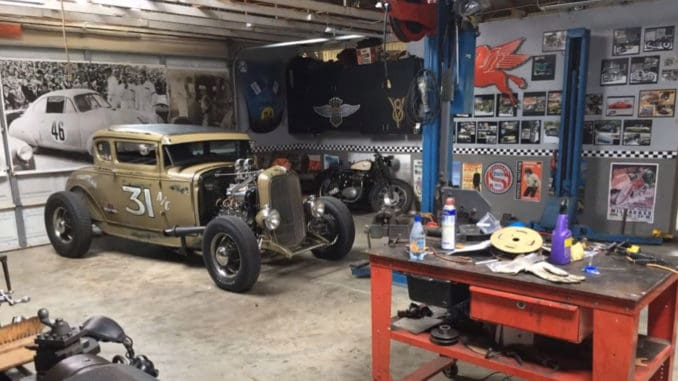1931 Ford Coupe with Blown Mercury Flathead on a 1932 Pinched Frame