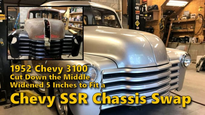 1952 Chevrolet 3100 Widebody SSR Chassis Swap