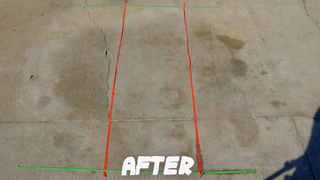3 Driveway Cleaning Methods to Remove Oil Stains ~ After