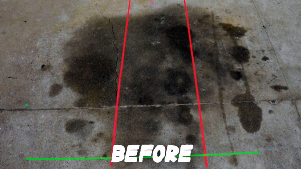 3 Driveway Cleaning Methods to Remove Oil Stains ~ Before