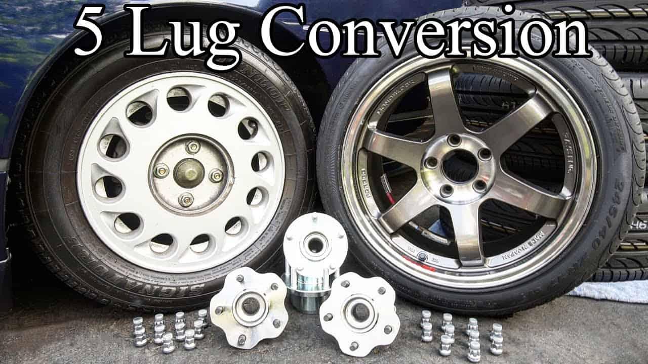 Easy DIY 4 Lug to 5 Lug Hub Conversion
