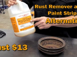 Inexpensive DIY Rust Remover Paint Stripper Alternative