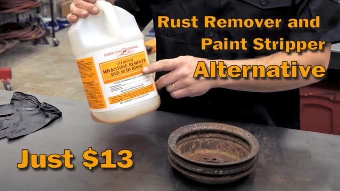 Inexpensive DIY Rust Remover Paint Stripper Alternative