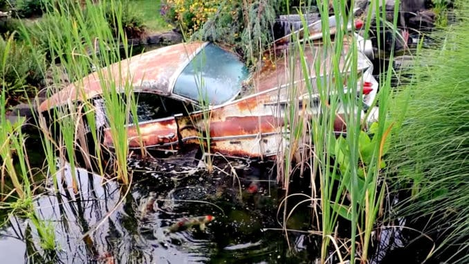 The Dan Morehouse Cadillac Collection Koi Pond