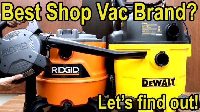 Wet/Dry Shop Vacuums