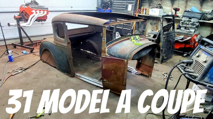 1931 Ford Model A 5 Window Coupe Rescued From A Basement