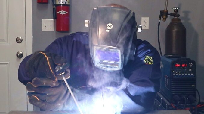 Shielded Metal Arc Welding (SMAW) or Stick Welding