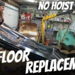 Replacing a Full One-Piece Floor Pan at Home with Body on Frame