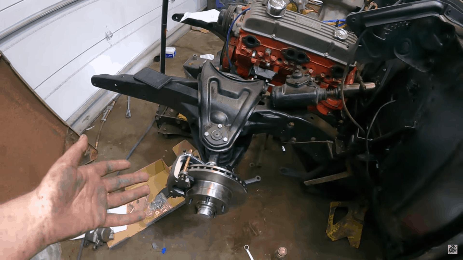 Complete Tri-5 Chevy Front Suspension Rebuild & Brake Upgrade for $550