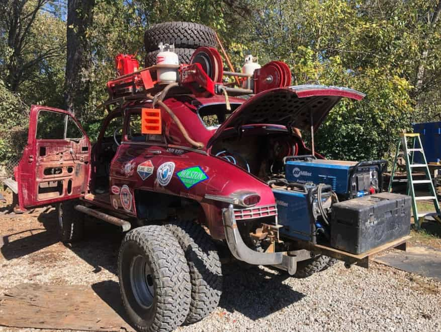 1949 Packard 'Rescue Pig' ~ A 4x4 Dually Welding Rig