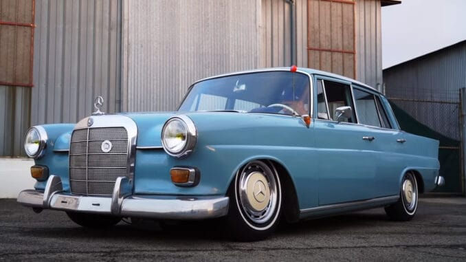 1965 Mercedes with BMW E30 Turbo Engine Swap