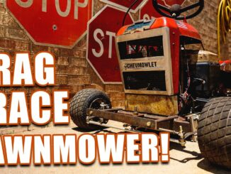 Farrmtruck and ANZs CHEVMOWLET Drag Racing Lawn Mower