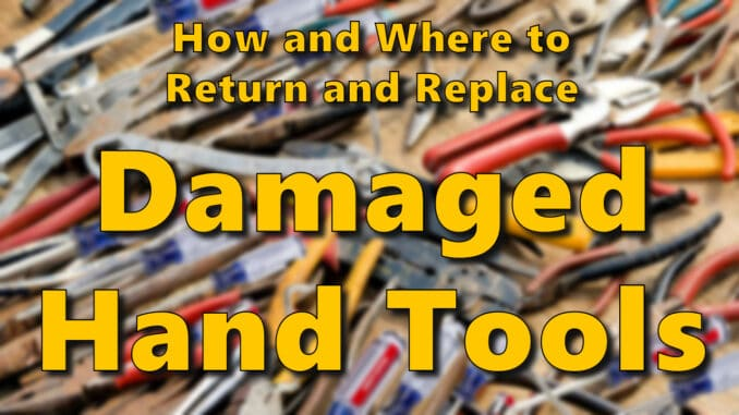 How To Return Damaged Tools