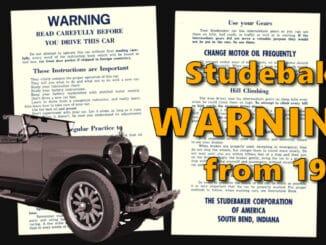 1926 Studebaker Roadster Manual Leaflet