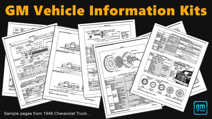GM Vehicle Information Kits PDF Download