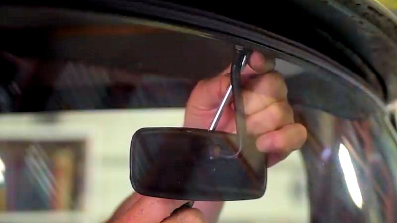 Step 2 - Remove rearview mirror