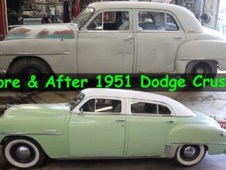 1951 Dodge Crusader Chop Top Before and After Build
