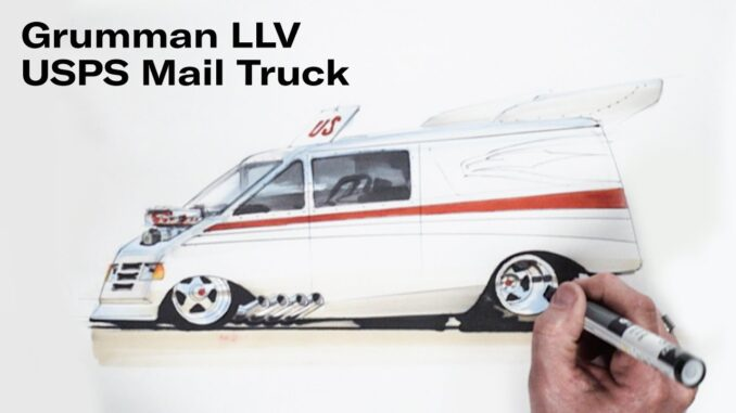 Chip Foose Hot Rods a USPS Mail Truck ~ Grumman LLV