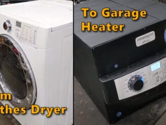 Convert an old clothes dryer to a shop or garage heater