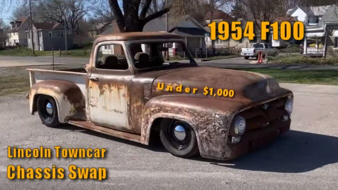 1954 Ford F100 2000 Lincoln Towncar Chassis Swap