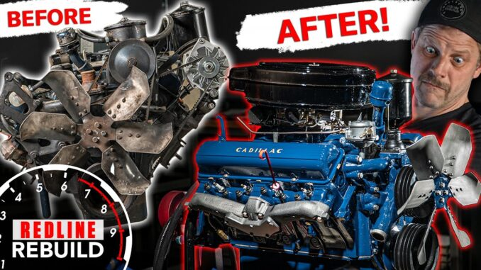 1957 Cadillac 365 V8 Engine Redline Rebuild Time-lapse
