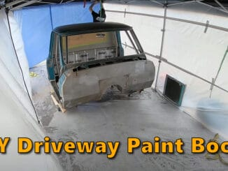 DIY Driveway Paint Booth