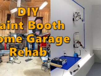 DIY Home Garage Paint Booth Rehab