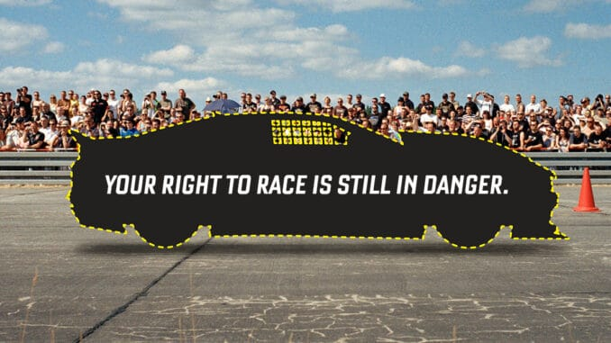 Your Right To Race Is Still In Danger