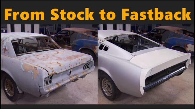 Converting A Stock 1967 Mustang Coupe Into An Iconic Fastback