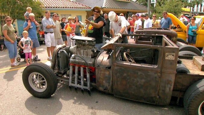 Daddy Crabs 1929 Ford Rat Rod at Cruisin the Coast