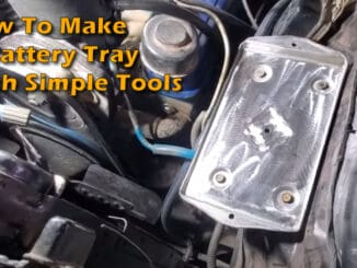 Battery Tray Made With Simple Tools