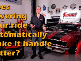 Will Lowering Your Car Automatically Make It Handle Better?