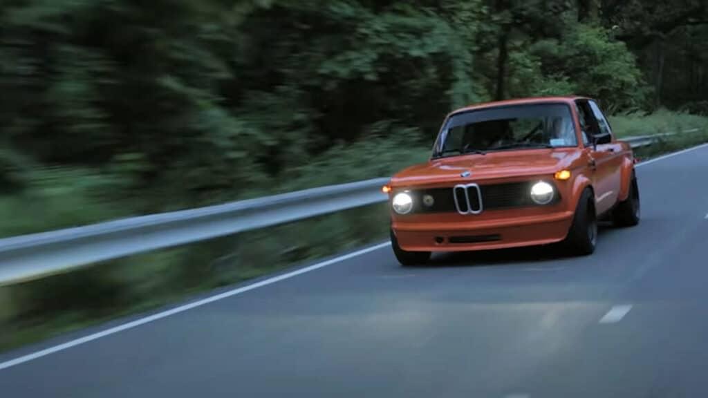 Carter Kelly Kramer's 1976 BMW 2002 on the road.