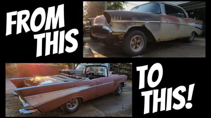 1957 Chevy 4-Door Hard Top To 2-Door Convertible Conversion